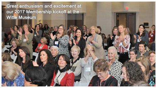 Members, guests, friends at 2017 Membership kickoff at the Witte Museum
