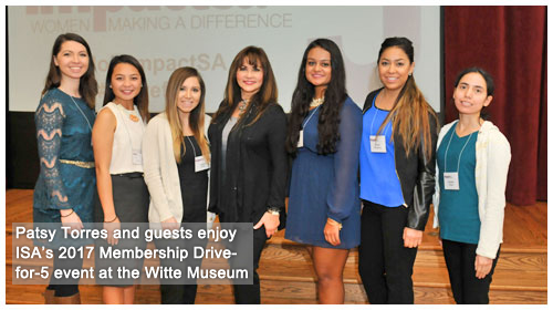 Patsy Torres and guests enjoy Impact SA's Membership Drive for 5 event at the Witte Museum