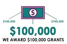 100,000 grant award graphic