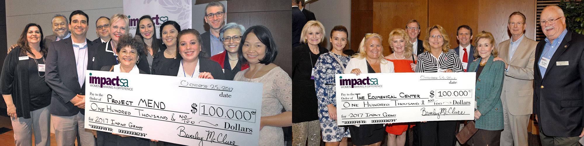 $100,000 Grant Recipients 2017