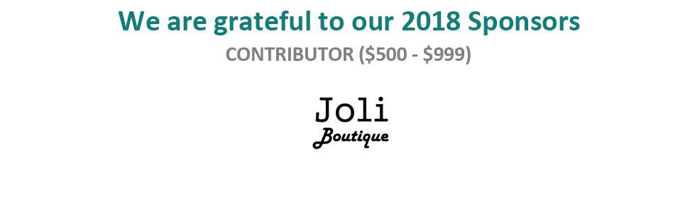 2018 Sponsor - Contributor, Joli Boutique