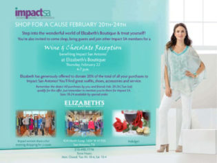 Shop For A Cause At Elizabeth's Boutique (February 20 – 24) Plus Wine & Chocolate Mixer (February 22nd)