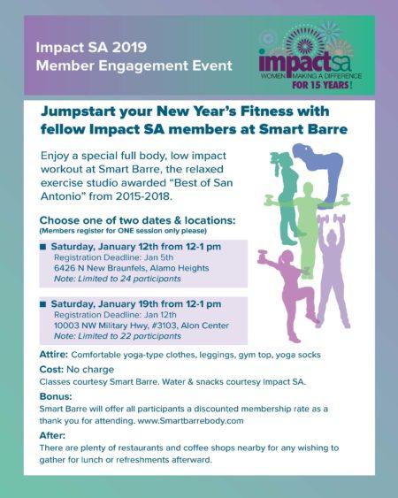 smart barre final flyer impact san antonio women making a difference. Black Bedroom Furniture Sets. Home Design Ideas